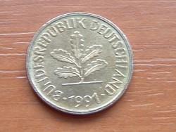 NÉMET NSZK 5 PFENNIG 1991  D