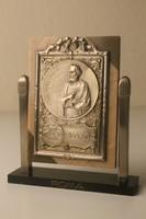 Art Deco asztali dísz, vallási kegytárgy, szentkép