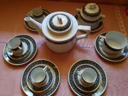 Antik ZSOLNAY kávéskészlet,családi címeres pecséttel!