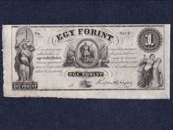 """Kossuth Lajos emigrációs 1 forint """"Sor D."""""""