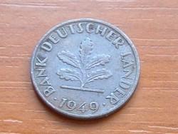 NÉMET NSZK 1 PFENNIG 1949  D  B.D.L
