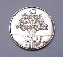Francia 100 frank 1987.