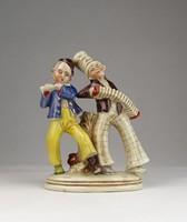 0U628 Antik német porcelán szobor zenészek