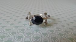 Ezüst zafír köves gyűrű - új ékszer