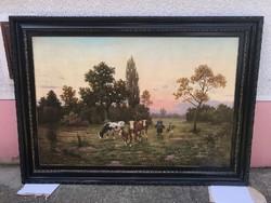 Németh Lajos - Legelésző tehenek