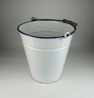 0U756 Régi fehér zománcozott bonyhádi vödör 30 cm