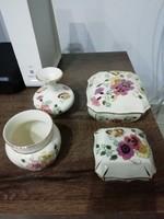 Zsolnay pillangós kézzelfestett váza bonbonier