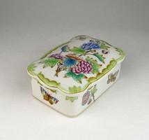 0U623 Viktória mintás Herendi porcelán bonbonier