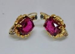 Gyönyörű antik 14kt aranyfülbevaló rubin,církon