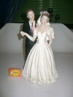 Menyasszony, vőlegény szobor - 29 cm
