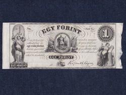"Kossuth Lajos emigrációs 1 forint ""Sor G."""