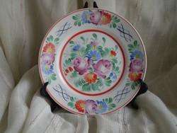 Hollóházi porcelán : Kézzel festett falitányér,dísztál