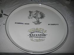 Zsolnay antik  ritkaság  ,Braun Testvérek RT -Salvator gyomor erősítő  likőr átm.312 mm