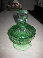 Uránzöld üveg bonbonier10x15 cm