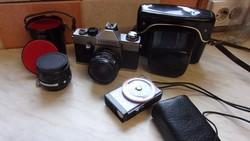 Praktica L. Fényképezőgép.