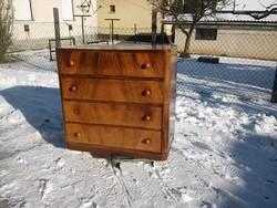 Antik komód / erős fa fiókos mély jól pakolható art deco komód / fiókos szekrény