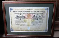 Magyar Város-és Községfejleszési Részvénytársaság Részvénye Bp 1921, 400 Koronáról
