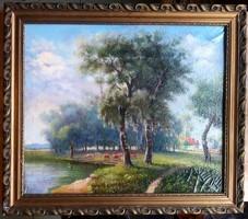 Antik, hibátlan, csodálatosan megfestett festmény eladó