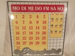 Öröknaptár - FÉM - Olasz - retro - bájos 30 x 30 cm