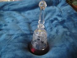 Üveg csengettyű  8x 18  cm 