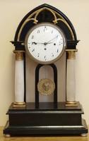 Biedermeier negyedütő ,naptáras,asztali / kandalló / óra