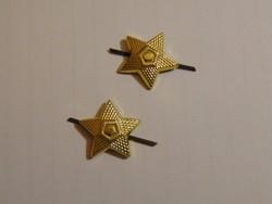 Rangjelző tiszti csillagok 2 db.