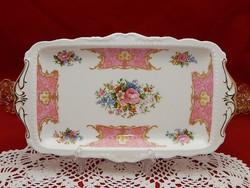 """Royal Albert """"Lady Carlyle"""" szendvicses vagy süteményes kínáló tálca."""