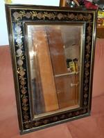 Rózsás tükör, 86x59, csiszolt üveg, antik darab