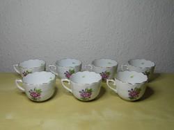 Herendi porcelán csészék ETON mintával 7 db egyben hibátlan állapotban