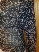Fekete mintás muszlin blúz
