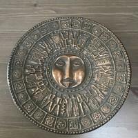 Régi iparművészeti Pap Zoltán bronz falidísz