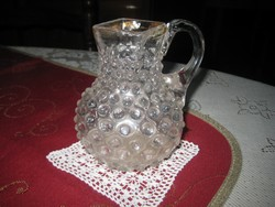 Bütykös váza , szakított eljárással készült szép ,régi darab  ,10x 12 cm