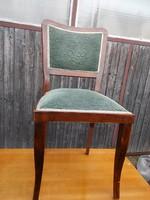 Nagyon szép állapotú kényelmes rugós art deco szék kellemes puha mohazöld huzattal