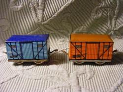 2 db lemezjáték vasúti tehervagon