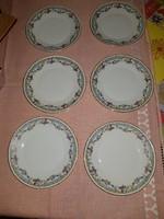 Antik Zsolnay süteményes tányérok,6db!