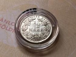 """1911""""A"""" ezüst 1/2 márka 2,777 gramm 0,900 gyönyörű darab"""