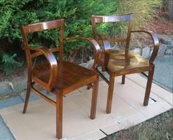 Gyönyörű Felújított Antik Art Deco Karfás székek 1920 -as évekből Párban!