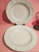 2 db Kroneter Bavaria fehér anyagában mintás tányér A033