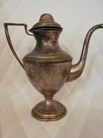 Ezüstözött bécsi art deco szervírozó teás/kávés kanna