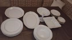 Zsolnay porcelán tollazott étkészlet 6 személyre