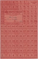 BUDAPESTI HÚSJEGY - 1945 JANUÁR 1