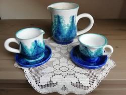 Morvay Zsuzsa kerámia teás/kávés készlet maradék
