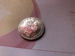 1860 ezüst 1 Florin ,gyönyörű verdefényes karcementes