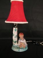 Kislány korsóval kerámia lámpa