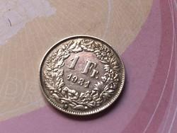 1931 svájci ezüst 1 frank 5 gramm 0,835