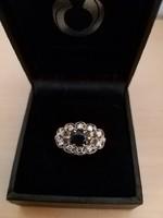 Gyönyörű antik gyűrű zafír gyémánt