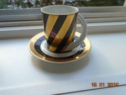 A tervező művész szignójával újszerű Rosenthal modern mokkás készlet Espresso sorozat.3 Studio Line
