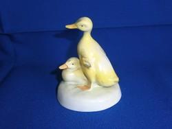 Aquincumi porcelán: sárga kacsák, kacsapár 2-es