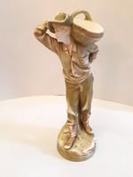 Antik Royal Dux porcelán férfi figura 45 cm