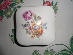 Szép mintás GDR porcelán ékszer tartó, illetve bonbonier